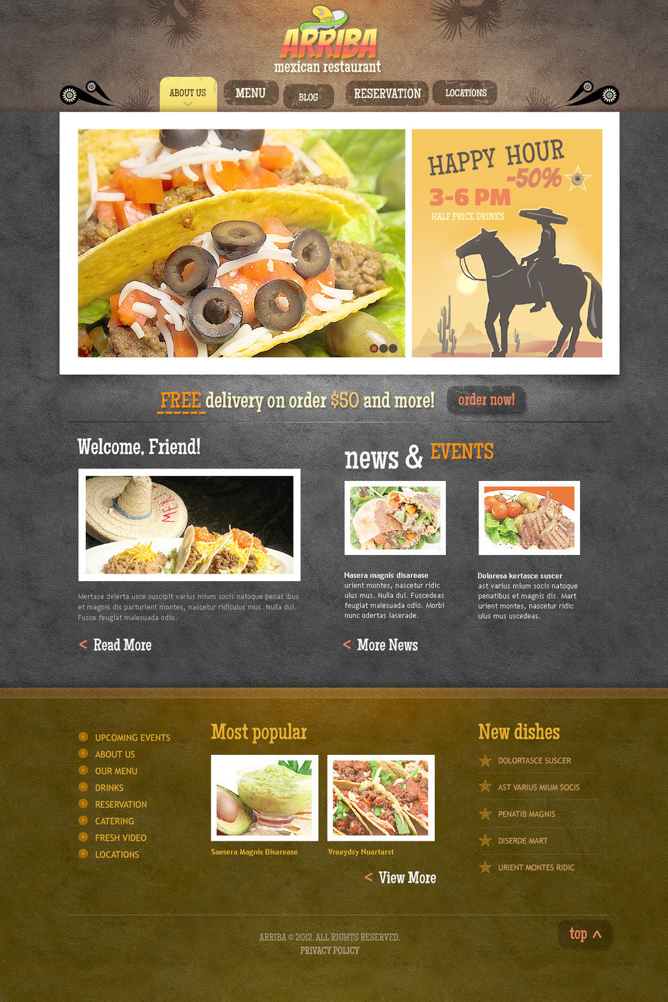 Mexican Restaurant PSD Template New Screenshots BIG