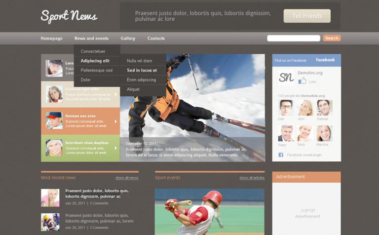 News Portal PSD Template #57358