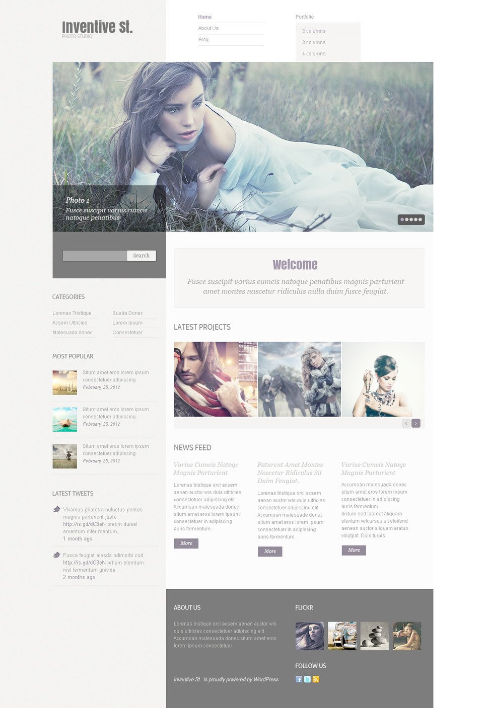 Photo Studio PSD Template New Screenshots BIG
