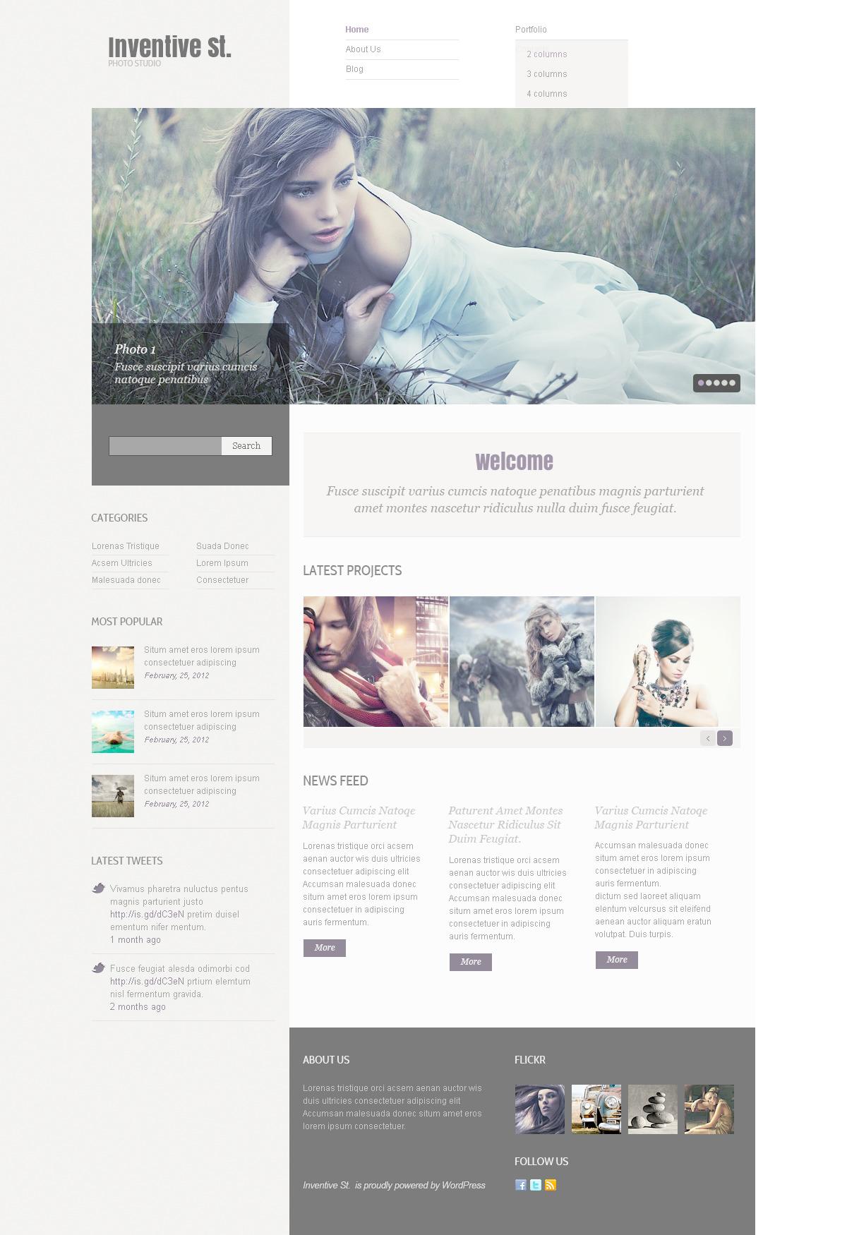 Photo Studio PSD Template - screenshot