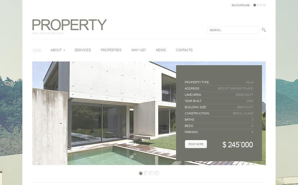 Plantilla PSD #57301 para Sitio de Agencia inmobiliaria New Screenshots BIG