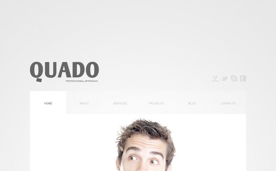Plantilla PSD #57321 para Sitio de Consultoría New Screenshots BIG