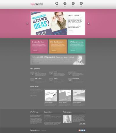 Plantilla PSD #57346 para Sitio de  para Sitio de Estudios de diseño