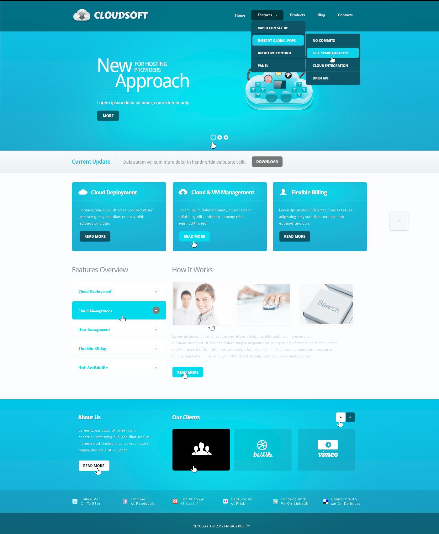 PSD шаблон на тему бізнес та послуги №57396 - скріншот