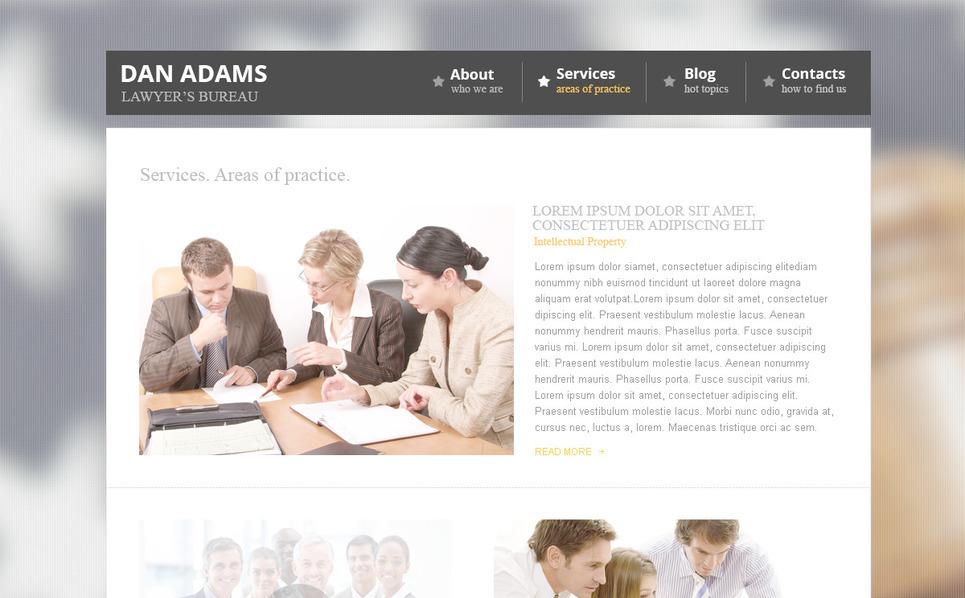 PSD шаблон №57381 на тему юрист New Screenshots BIG