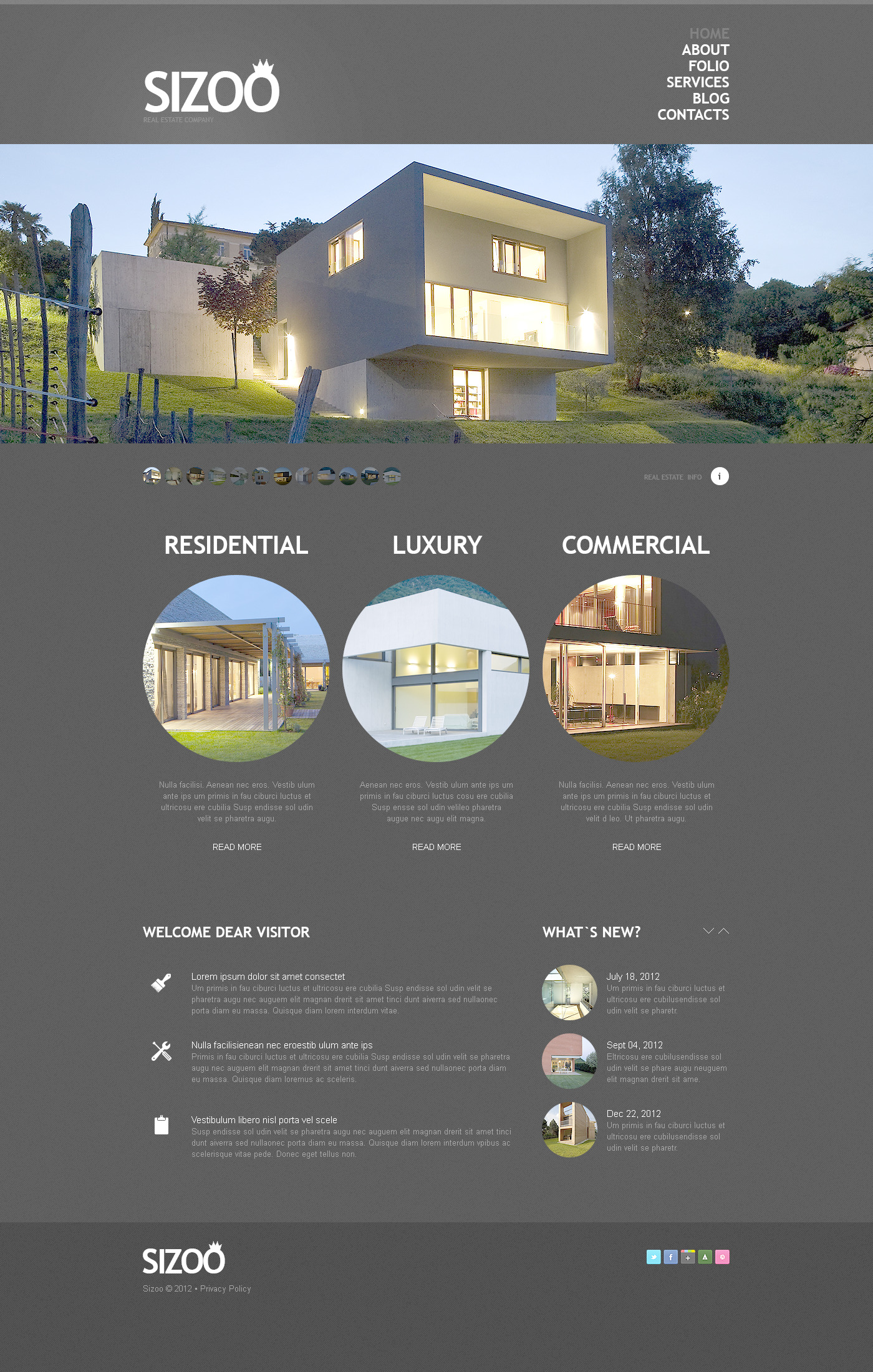 Real Estate Agency PSD Template - screenshot