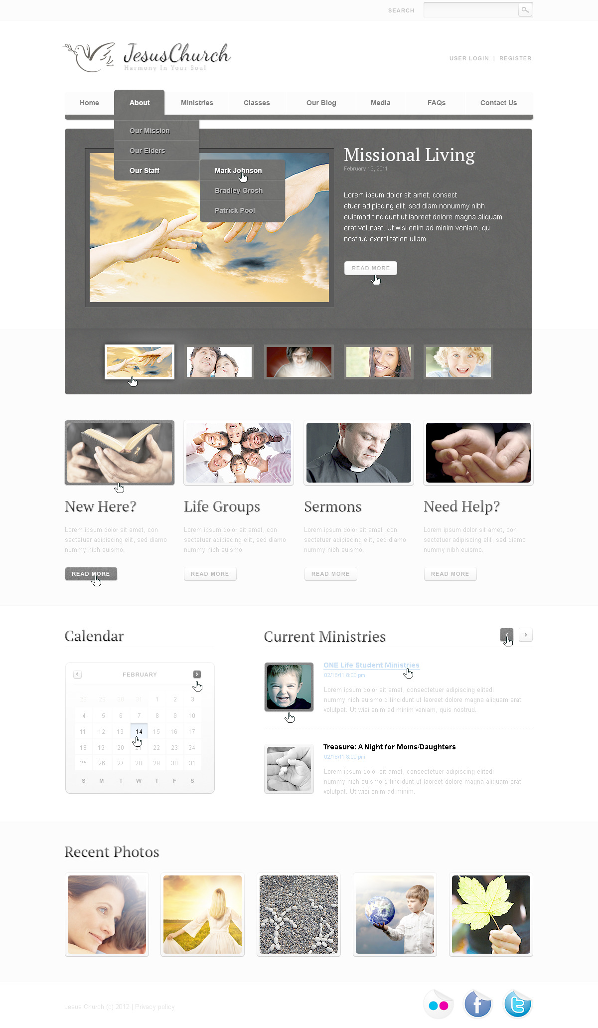 Religious PSD Template - screenshot
