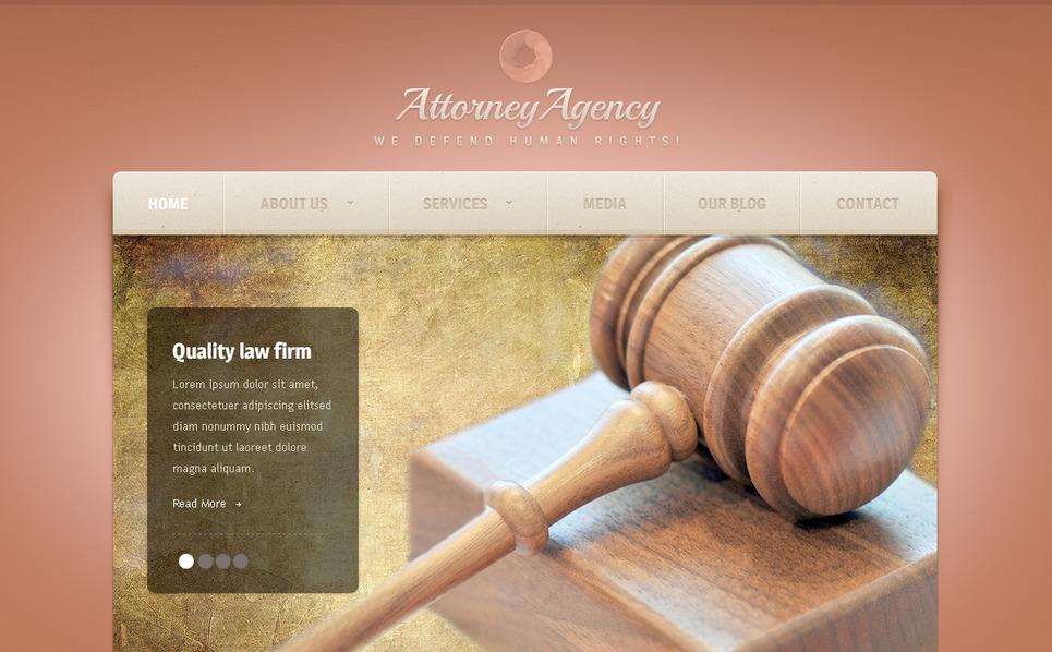 Szablon PSD #57380 na temat: firma prawnicza New Screenshots BIG