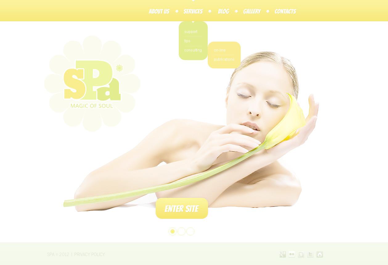 Template Photoshop para Sites de Salão de Beleza №57345