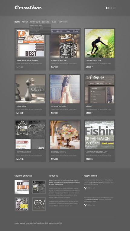 ADOBE Photoshop Template 57401 Home Page Screenshot