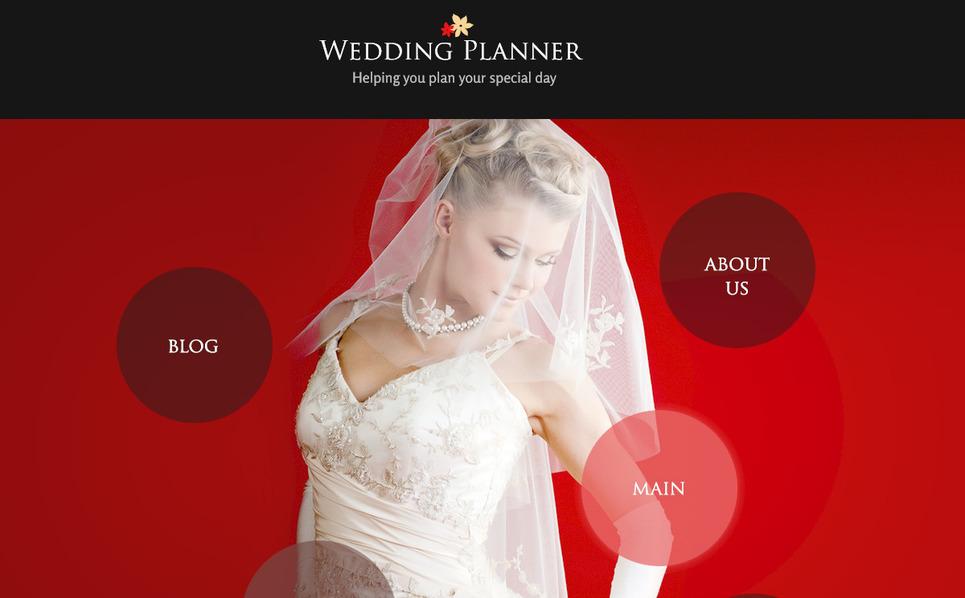 PSD шаблон на тему організатор весілля New Screenshots BIG