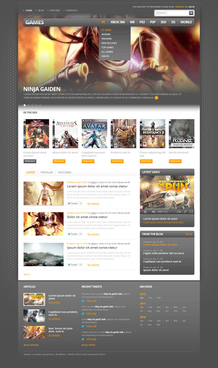 ADOBE Photoshop Template 57415 Home Page Screenshot