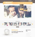 Charity PSD  Template 57419