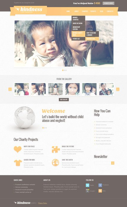 ADOBE Photoshop Template 57419 Home Page Screenshot