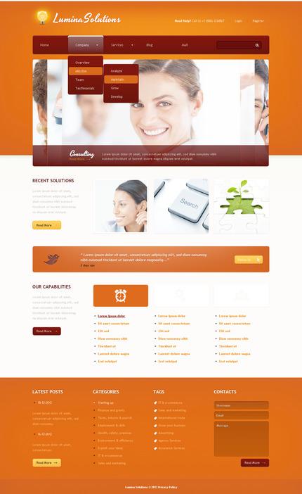 PSD макет сайта №57420