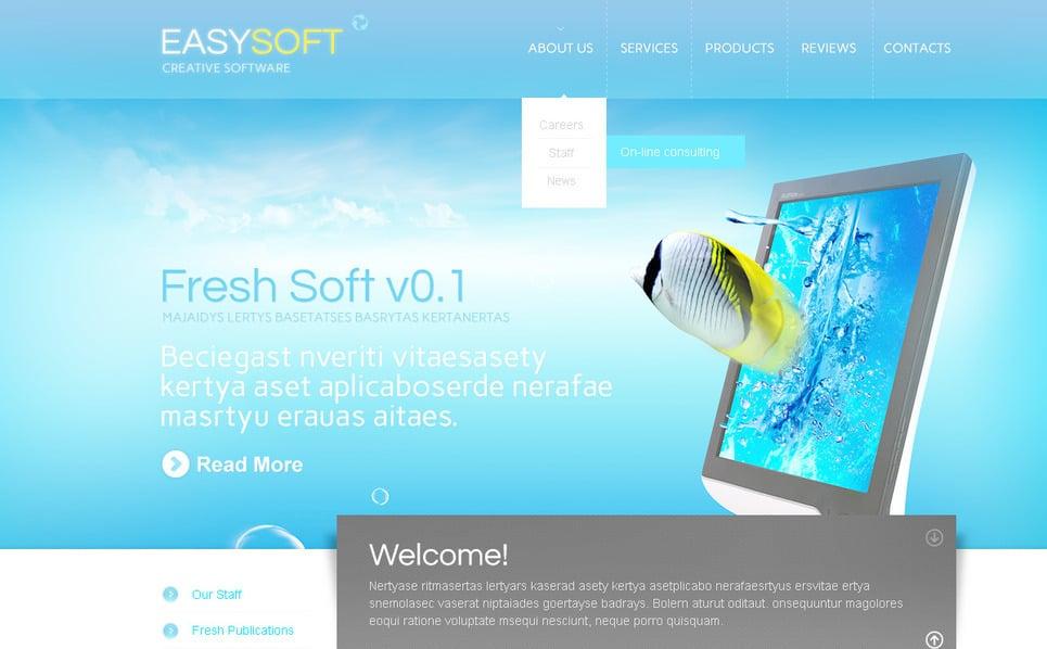 PSD Template over Softwarebedrijf  New Screenshots BIG