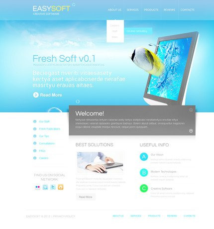 ADOBE Photoshop Template 57421 Home Page Screenshot