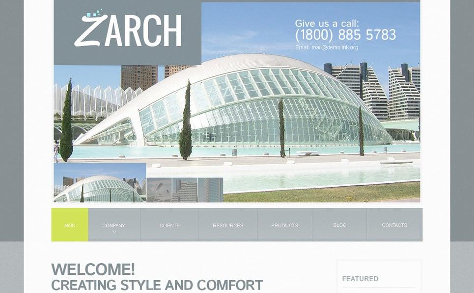 Modello PSD  #57428 per Un Sito di Architettura New Screenshots BIG