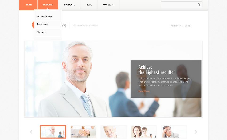Szablon PSD #57430 na temat: biznes i usługi New Screenshots BIG