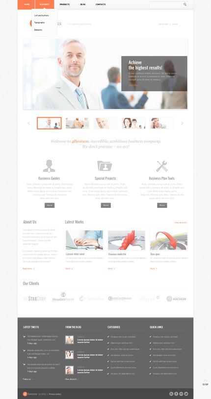 PSD макет сайта №57430
