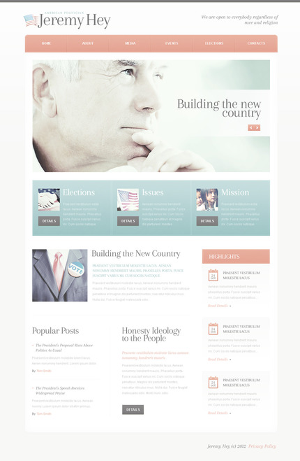 ADOBE Photoshop Template 57431 Home Page Screenshot