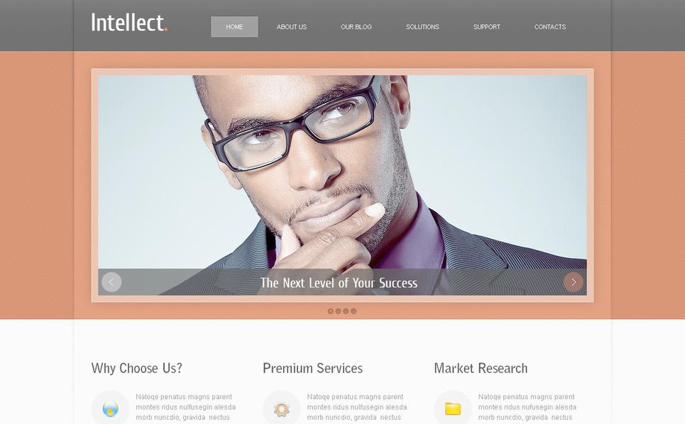 PSD шаблон №57433 на тему Бизнес и услуги New Screenshots BIG