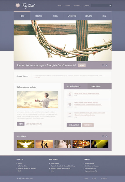 ADOBE Photoshop Template 57437 Home Page Screenshot
