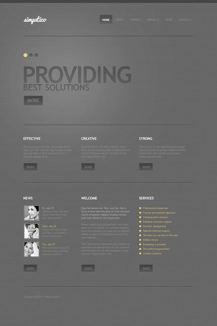 PSD макет сайта №57438