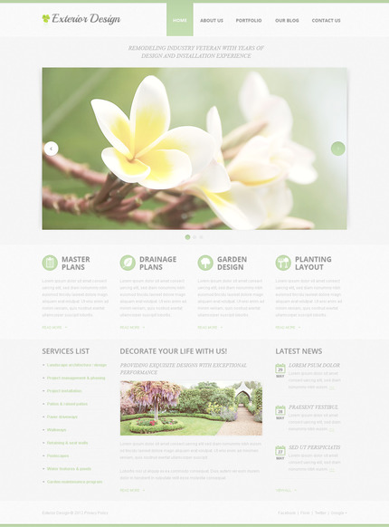 ADOBE Photoshop Template 57440 Home Page Screenshot