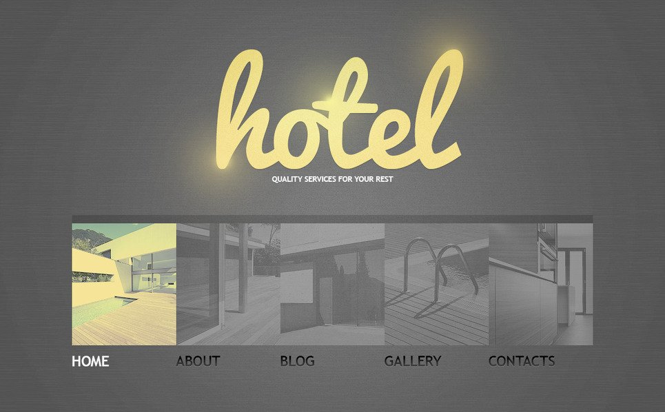 Template PSD  #57442 per Un Sito di Hotel New Screenshots BIG