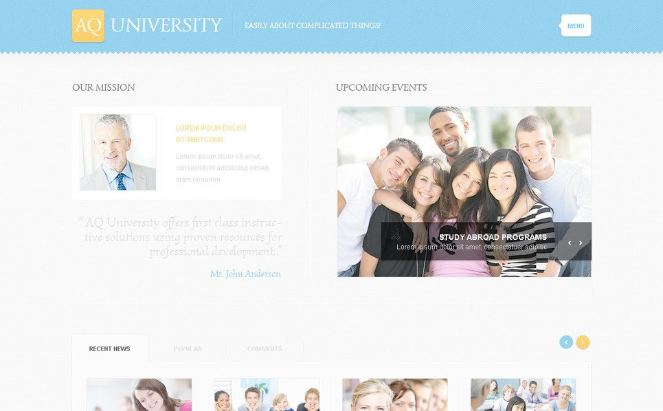 Modèle PSD  pour site d'université New Screenshots BIG