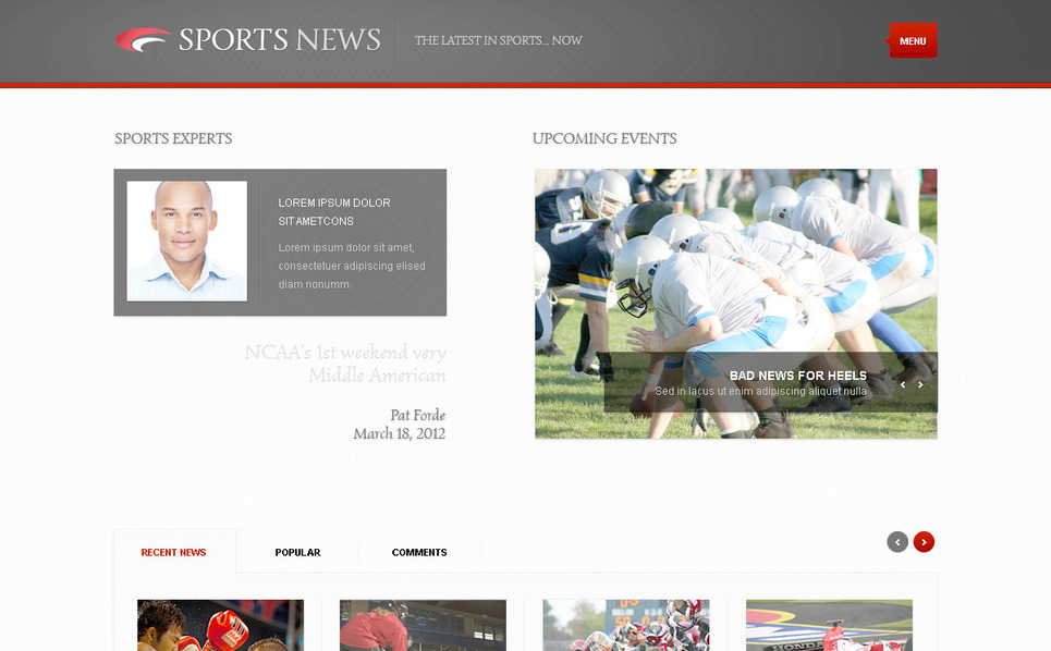 Modèle PSD  pour site de nouvelles sportives New Screenshots BIG