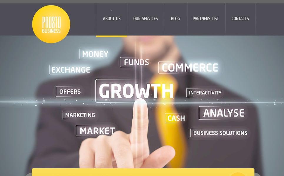Szablon PSD #57449 na temat: biznes i usługi New Screenshots BIG