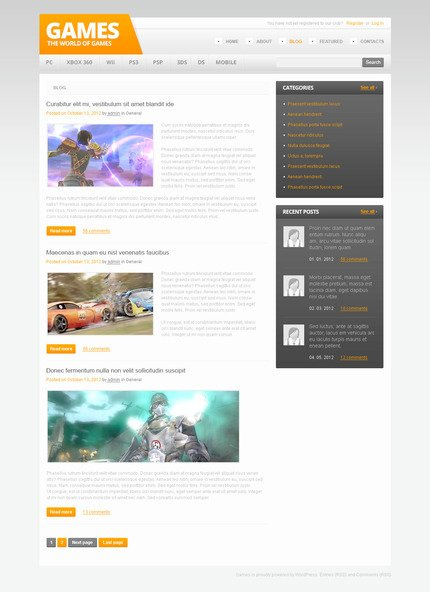 PSD макет сайта №57454