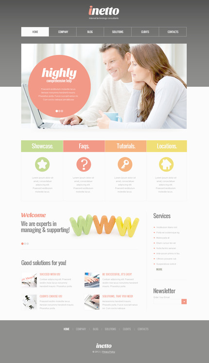 ADOBE Photoshop Template 57458 Home Page Screenshot