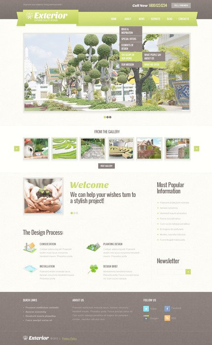 ADOBE Photoshop Template 57461 Home Page Screenshot