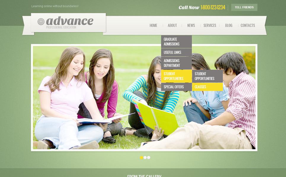 Tema PSD  #57462 per Un Sito di Istruzione New Screenshots BIG