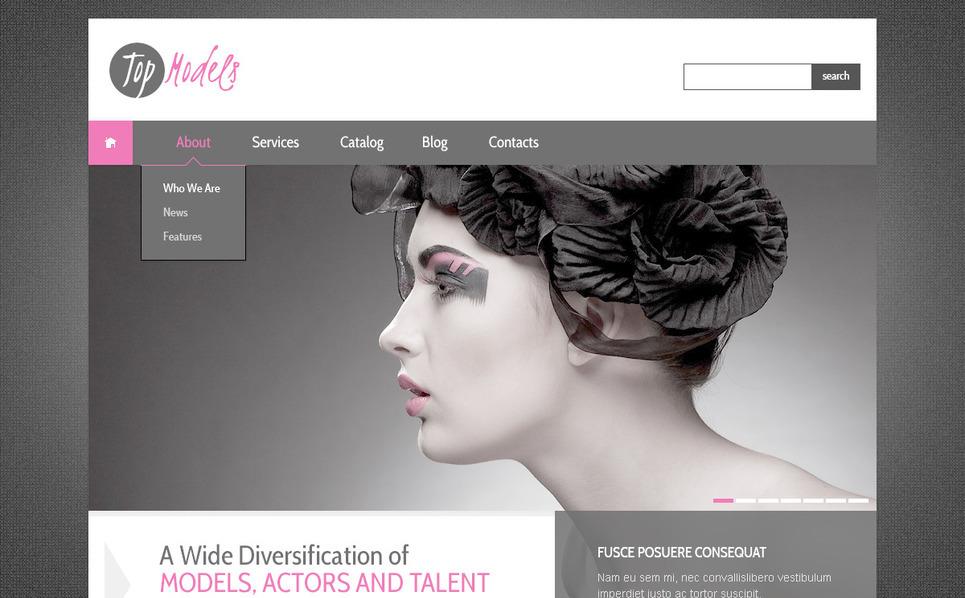 PSD šablona Modelingová agentura New Screenshots BIG
