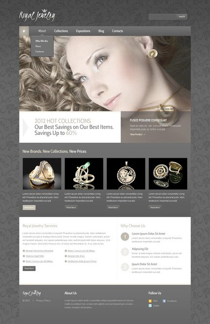 ADOBE Photoshop Template 57466 Home Page Screenshot