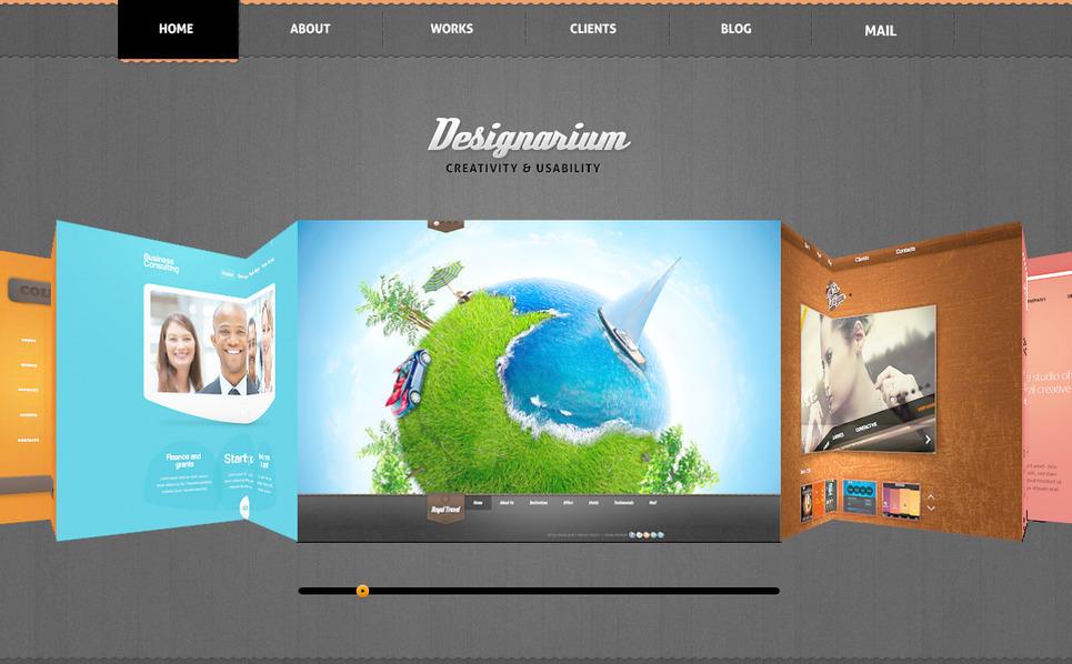 Template Photoshop  para Sites de Estúdio de Design №57468 New Screenshots BIG