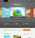 Web design PSD  Template 57468