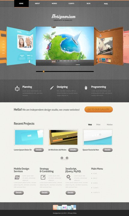 ADOBE Photoshop Template 57468 Home Page Screenshot