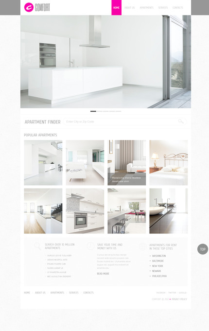 PSD макет сайта №57470