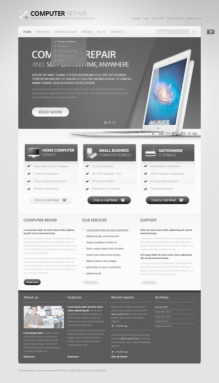 ADOBE Photoshop Template 57473 Home Page Screenshot