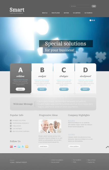 PSD макет сайта №57474
