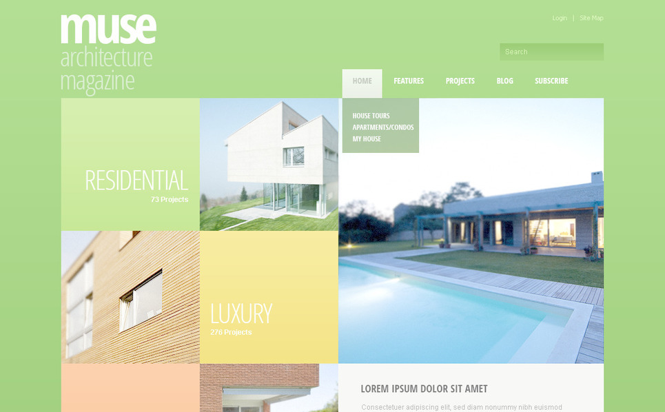 PSD Template over Architectuur New Screenshots BIG
