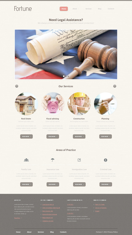 ADOBE Photoshop Template 57482 Home Page Screenshot