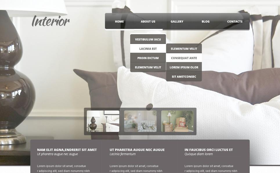 PSD шаблон на тему внутрішній дизайн New Screenshots BIG