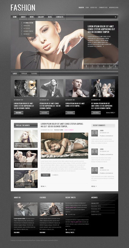 ADOBE Photoshop Template 57488 Home Page Screenshot