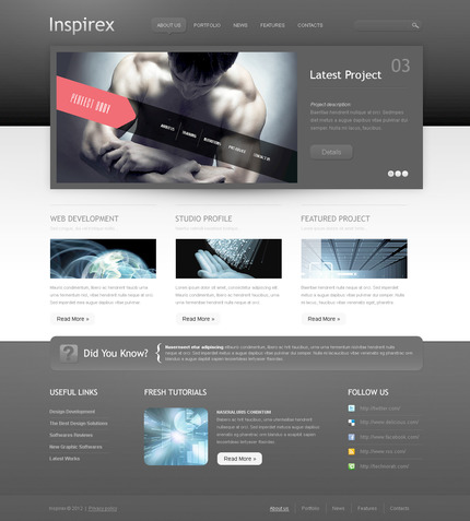 ADOBE Photoshop Template 57490 Home Page Screenshot